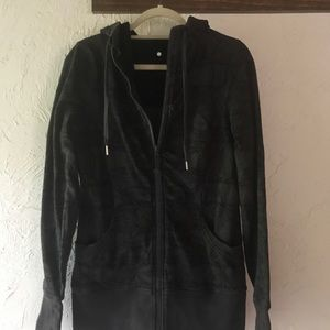 Lululemon long SCUBA hoodie gray/black 10
